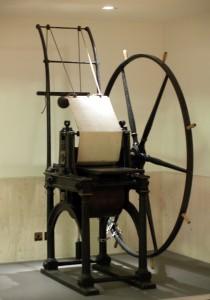 Penny Black Printing Press in a British Library Hallway (London, England)