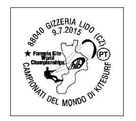 ANNULLO POSTE ITALIANE MONDIALI KITESURF GIZZERIA
